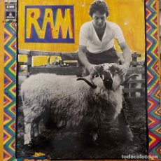 Discos de vinilo: PAUL & LINDA MCCARTNEY (THE BEATLES), RAM. LP ORIGINAL ESPAÑA PORTADA ABIERTA. LABEL AZUL OSCURO. Lote 87769332