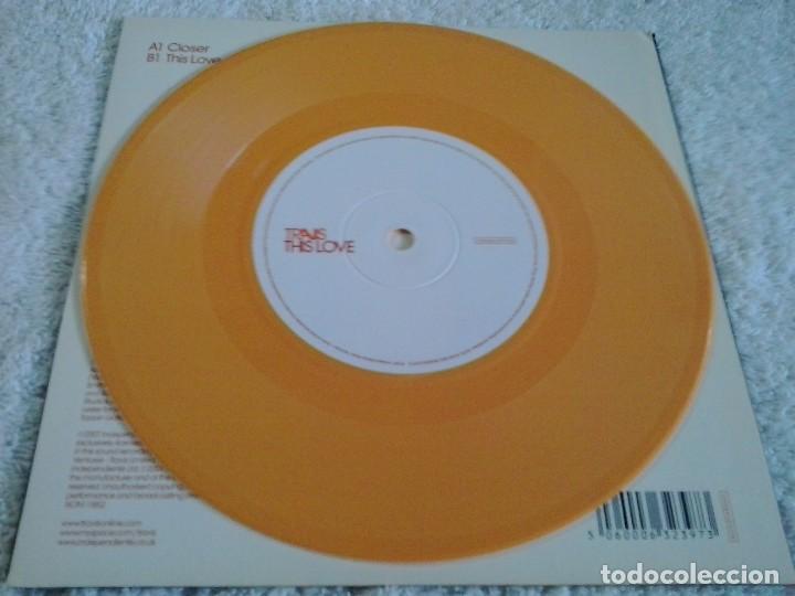 Discos de vinilo: TRAVIS: CLOSER 2007 Vinyl, 7, Single, 2/2, Orange EDICION LIMITADA DISCO NARANJA - Foto 5 - 87988568