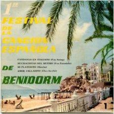 Discos de vinilo: LOS XEY -1ER FEST. DE LA CANCIÓN ESPAÑOLA DE BENIDORM, 3 - EP SPAIN 1959 - COLUMBIA ECGE-71050. Lote 87988980