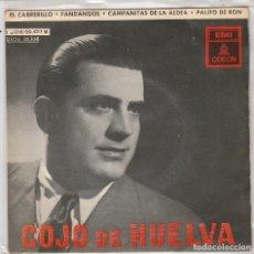 Discos de vinilo: COJO DE HUELVA / EL CABRERILLO + 3 (EP 1958). Lote 236086535