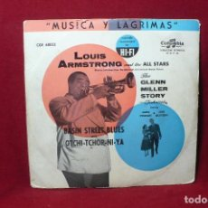Discos de vinilo: LOUIS ARMSTRONG AND THE ALL STARS/THE GLENN MILLER STORY/BASIN STREET BLUES/OTCHI-TCHOR-NI-YA,1954. . Lote 88116660