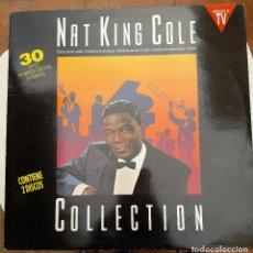 Discos de vinilo: VINILO - LP DOBLE. NAT KING COLE. COLLECTION. 30 EXITOS EN ESPAÑOL. HISPAVOX 1990. MUY BUEN ESTADO. Lote 88139392