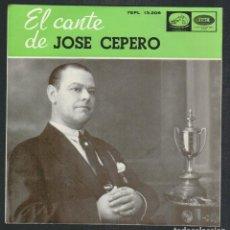 Discos de vinilo: JOSÉ CEPERO.EP-LA VOZ DE SU AMO.AÑO 1958.. Lote 88183108
