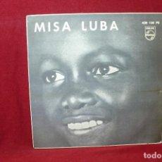 Discos de vinilo: MISA LUBA/KYRIE / SANTUS / BENEDICTUS / AGNUS DEI / GLORIA / CREDO / PHILIPS, 428138PE / 1962.. Lote 88253352