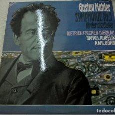 Discos de vinilo: MAHLER-SYMPHONIE NR.7-KINDERTOTENLIEDER-DIESKAU-KUBELIK-BOHN-2 LP-DEUTSCHE GRAMMOPHON-N. Lote 88307672
