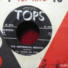 Discos de vinilo: JOHN LAURENTZ & BARCLAY ALLEN AT THE PIANO / VOCAL & INSTRUMENTAL / TOPS 45-R1029-49, U.S.A./ . Lote 88321840
