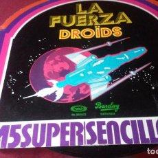 Discos de vinilo: THE DROIDS - LA FUERZA / RAYMON LEFEURE - STARS WARS - MAXI - BARCLAYS 1977-1978 SPAIN RARE. Lote 88356572