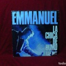 Discos de vinilo: EMMANUEL / LA CHICA DE HUMO, RAP MIX 1ª Y 2ª PARTE / EPIC 2338 PROMOCIONAL / 1989.. Lote 88357168