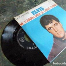 Discos de vinilo: ELVIS PRESLEY -ME LLAMARAS -CHICADE LARGAS PIERNES-EDITADO EN ESPAÑA POR RCA EN 1967. Lote 88432000