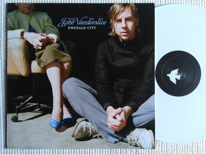 JOHN VANDERSLICE - '' EMERALD CITY '' WHITE VINYL LP + BONUS 2007 GERMANY (Música - Discos - LP Vinilo - Pop - Rock Extranjero de los 90 a la actualidad)