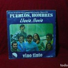 Discos de vinilo: VINO TINTO / PUEBLOS, HOMBRES / LLUVIA, LLUVIA / EMI, PROMO / IV FESTVAL DE LA CANCIÓN ALMERIA 1973.. Lote 88536632