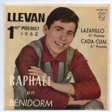 Discos de vinilo: DISCO EP 45 RPM - RAPHAEL EN BENIDORM (433857 PE). Lote 269823523