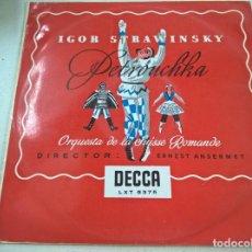 Discos de vinilo: IGOR STRAWINSKY-PETROUCHKA-LP-DECCA -LXT 5375-N. Lote 88632952