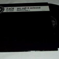 Discos de vinilo: D. MOB- FEATURING GARY HAISMAN ?– WE CALL IT ACIEED TRANCE DANCE LP 1989. Lote 88643936