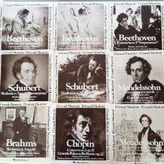 Discos de vinilo: I GRANDI MUSICISTI – FABBRI EDITORI – LOTE DE 9 LP-GATEFOLD – SCHUBERT, MENDESSOHN, BEETHOVEN.... Lote 88663548