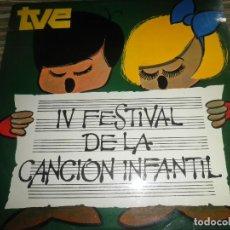 Discos de vinilo: IV FESTIVAL DE LA CANCION INFANTIL TVE LP - ORIGINAL ESPAÑOL - PALOBAL RECORDS 1970 - MONOAURAL -. Lote 88764156