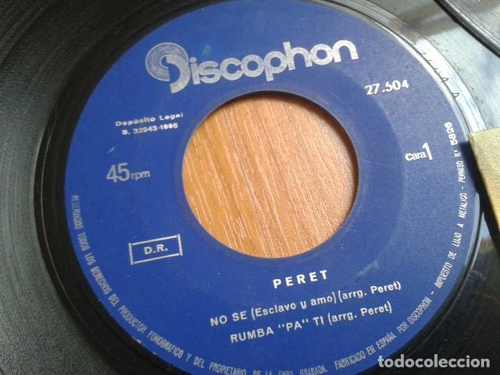 Discos de vinilo: Lote maxis PERET -- El rey de la Rumba -- 5 vinilos ( Todos diferentes ) + 4 carátulas - Foto 5 - 88769016