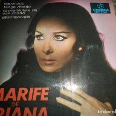 Disques de vinyle: MARIFE DE TRIANA - SEPARAOS EP - ORIGINAL ESPAÑOL - COLUMBIA RECORDS1967 -MONOAURAL -. Lote 88770900