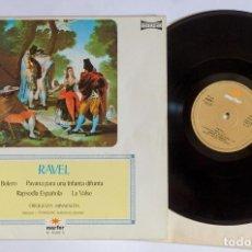 Discos de vinilo: MAURICE RAVEL – BOLERO / PAVANA PARA UNA INFANTA DIFUNTA / RAPSODIA ESPAÑOLA / LA VALSE . Lote 88772648