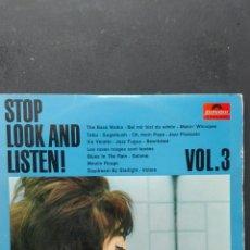 Discos de vinilo: STOP LOOK AND LISTEN DISTRIBUIDOR POULIDOR. Lote 88798071