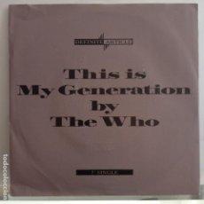 Discos de vinilo: THE WHO - MY GENERATION - NUEVO ALEMAN MONO 1988. Lote 88799120