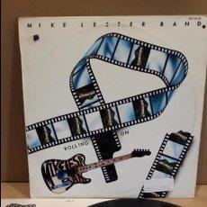 Discos de vinilo: MIKE LESTER BAND. ROLLING ON. LP / HISPAVOX - 1983 / MBC. **/*** CARPETA CON TALADRO. Lote 88831596