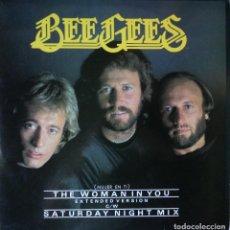 Discos de vinilo: BEE GEES - THE WOMAN IN YOU - EDICIÓN DE 1983 DE ESPAÑA - MAXI-SINGLE. Lote 88834828