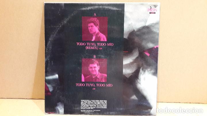 Discos de vinilo: PÁJARO EN MANO. TODO MÍO...TODO TUYO. MAXI-SG / PICAP - 1991 / MBC. ***/*** - Foto 2 - 88840076