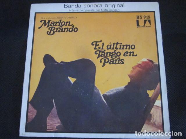GATO BARBIERI - EL ULTIMO TANGO EN PARIS - SN - BANDA SONORA - EDICION ESPAÑOLA DEL AÑO 1973. (Música - Discos - Singles Vinilo - Bandas Sonoras y Actores)