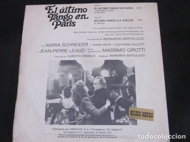 Discos de vinilo: GATO BARBIERI - EL ULTIMO TANGO EN PARIS - SN - BANDA SONORA - EDICION ESPAÑOLA DEL AÑO 1973. - Foto 2 - 88854980