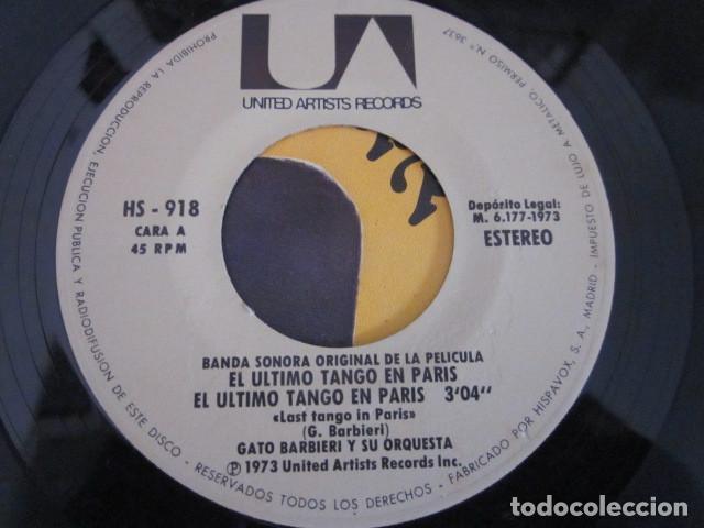 Discos de vinilo: GATO BARBIERI - EL ULTIMO TANGO EN PARIS - SN - BANDA SONORA - EDICION ESPAÑOLA DEL AÑO 1973. - Foto 3 - 88854980