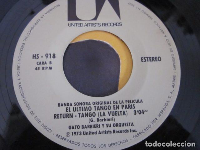 Discos de vinilo: GATO BARBIERI - EL ULTIMO TANGO EN PARIS - SN - BANDA SONORA - EDICION ESPAÑOLA DEL AÑO 1973. - Foto 4 - 88854980