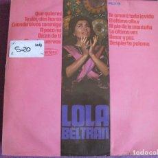 Discos de vinilo: LP - LOLA BELTRAN - QUE QUIERES (SPAIN, DISCOS PEERLESS 1966). Lote 88860508