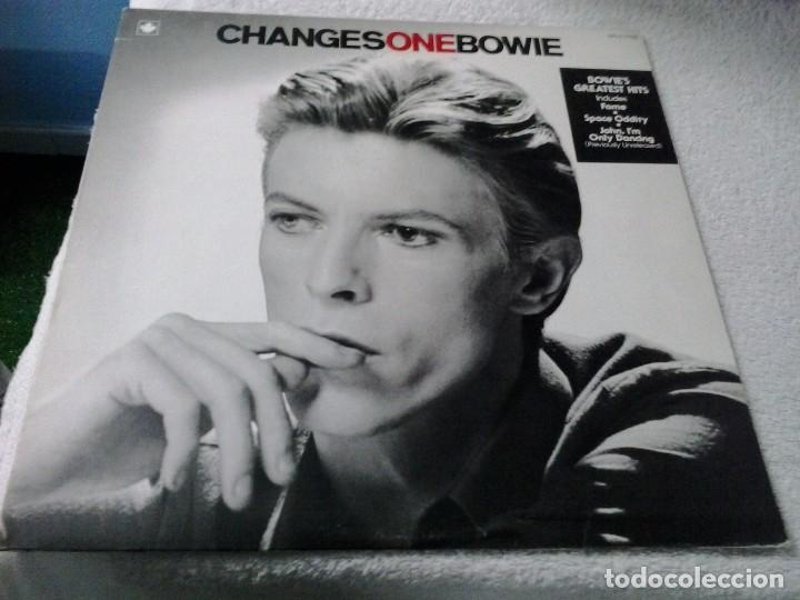 Discos de vinilo: DAVID BOWIE: GHANGES ONE. GREATEST HITS. RCA CPL1.1732. CANADÁ. - Foto 1 - 88868792