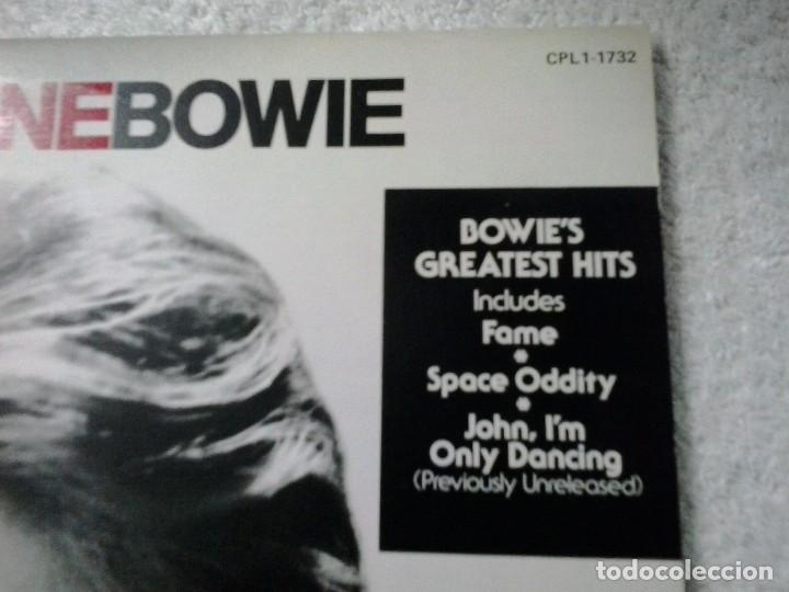 Discos de vinilo: DAVID BOWIE: GHANGES ONE. GREATEST HITS. RCA CPL1.1732. CANADÁ. - Foto 3 - 88868792