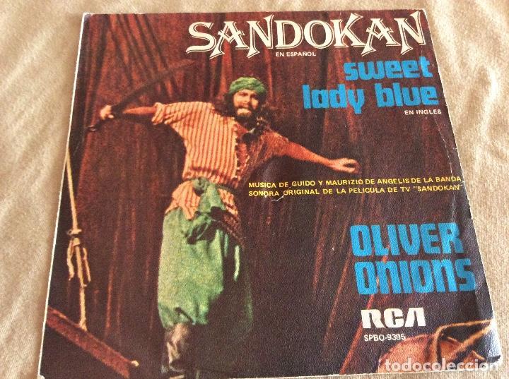 OLIVER ONIONS. SANDOKAN / SWEET LADY BLUE. RCA 1976 (Música - Discos - Singles Vinilo - Bandas Sonoras y Actores)