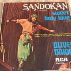 Discos de vinilo: OLIVER ONIONS. SANDOKAN / SWEET LADY BLUE. RCA 1976 . Lote 88892544