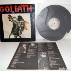 Discos de vinilo: GOLIATH - GOLIATH - LP CHAPA DISCOS ZL-626 ESPAÑA 1984 EX/VG. Lote 88893912