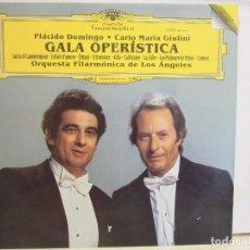 Discos de vinilo: GALA OPERISTICA - PLACIDO DOMINGO, CARLOS MARIA GIULINI - 1989 - VG+/NM+. Lote 88894156
