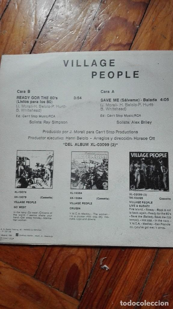 Discos de vinilo: Single vinilo village people - Foto 2 - 88898340