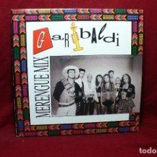 Discos de vinilo: GARIBALDI / MERENGUE MIX / MERENGUE MIX / EMI, PROMOCIONAL, 1991.. Lote 88940252