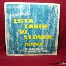 Discos de vinilo: ARMANDO MANZANERO / ESTA TARDE VI LLOVER / ADORO / RCA, 1967.. Lote 88943620