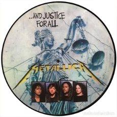 Discos de vinilo: METALLICA LP AND JUSTICE FOR ALL VINILO PICTURE DISC USA PROMO MUY RARO COLECCIONISTA. Lote 113668467
