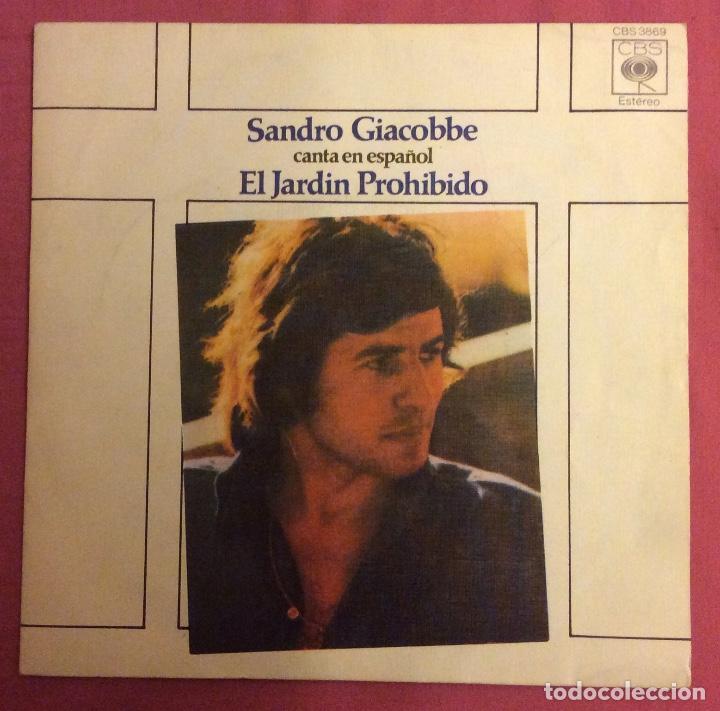 EL JARDIN PROHIBIDO. SANDRO GIACOBBE. EN ESPAÑOL. CBS 1976 (Música - Discos - Singles Vinilo - Canción Francesa e Italiana)