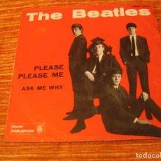 Discos de vinilo: THE BEATLES SINGLE 45 RPM PLEASE PLEASE ME PARLOPHON ITALIA 1ª ED. 1963. Lote 88981436