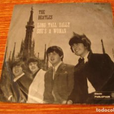 Discos de vinilo: THE BEATLES SINGLE 45 RPM LONG TALL SALLY PARLOPHON ITALIA 1ª ED. 1965. Lote 88982336