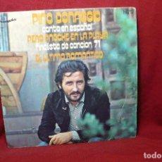 Discos de vinilo: PINO DONAGGIO, CANTA EN ESPAÑOL / PERO ANOCHE EN LA PLAYA / EL ULTIMO ROMANTICO / CAROSELLO, 1971.. Lote 88984032