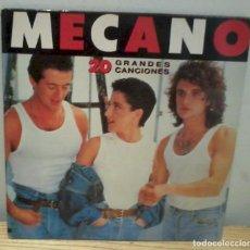 Discos de vinilo: MECANO 20 GRANDES CANCIONES LP DOBLE CARPETA DOBLE CBS 1989 EX/EX. Lote 88987256
