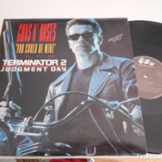 Discos de vinilo: MAXI DE GUNS N' ROSES YOU COULD BE MINE TERMINATOR 2-(ESPAÑOL,1991) NUEVO. Lote 88989292