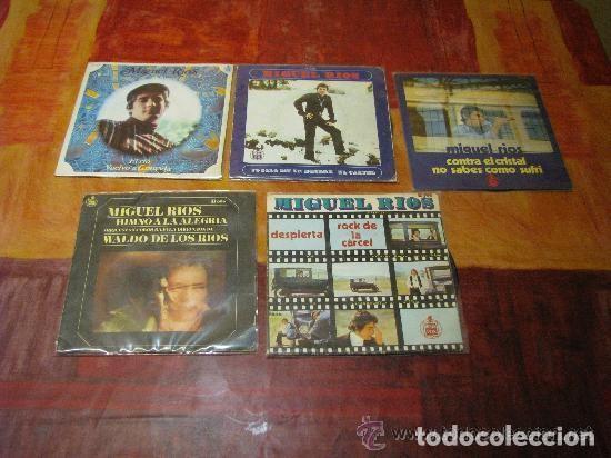 MIGUEL RIOS / LOTE 5 SINGLE 45 RPM// EDITADO POR HISPAVOX (Música - Discos - Singles Vinilo - Solistas Españoles de los 50 y 60)
